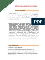 La Epistemologia Aplicada a La Salud Ocupacional