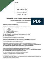 Qcm - Histologie, Biologie Cellulaire, Anatomie, Chimie - Biochimie, Sciences Humaines.pdf
