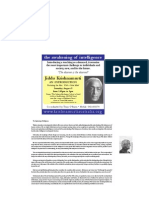 Krishnamurti Event Flyer
