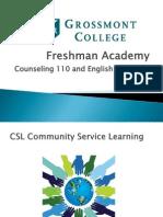 Freshman Academy Presentation