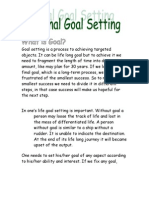 CELP-2 (Personal Goal Setting)