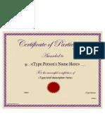 CertificateStreet ED 014