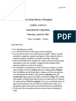 APhO2001 Exp Prob