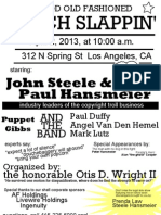 Flyer Announcing Prenda event on April 2