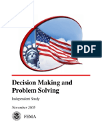Fema-Decision Making and Problem Solving