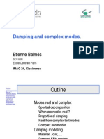 Damping and complex modes