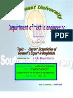 Current Sictuatiation of Garment's Export in Bangladesh
