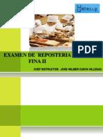 Examen de Pasteleria Fina