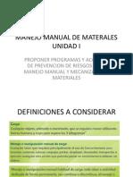 Manejo Manual de Materales