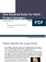 100RulesNASAProjectManagers
