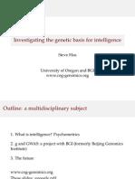 Genetic Basis for Intelligence