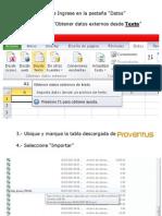 De Proventus a Excel