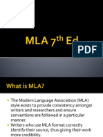 MLA 7th Edition