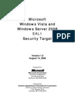 Win08-Securitytarget EAL1 DEL 14 AGO 2008