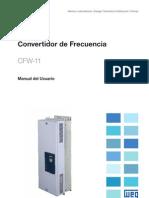 WEG Cfw 11 Tamano f y g Manual Del Usuario 10000784338 Manual Espanol