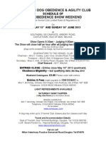 Obedience Schedule 21 1 13 Final Version 21.3.13