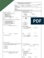 Examen Modelo de Matematica 1ero de Secundaria