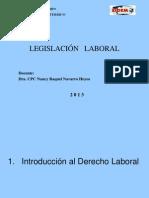 Semana 01 - Introduccion Al Derecho Laboral