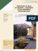 Construire en Bois en Guyane