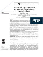 Benchmarking Culture and Performance in Chinese Organization