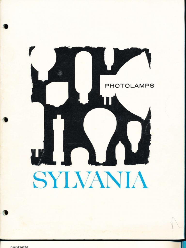sylvania photolamps catalog 1967 flash photography