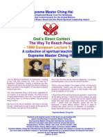 Supreme Master Ching Hai's God's Direct Contact - The Way to Reach Peace