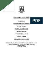 Leadership Management File Project