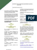 LEY DE CARRERA DOCENTE Y ESCALAFÓN DEL MAGISTERIO NACIONAL