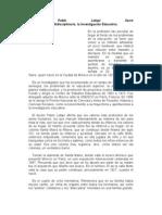 Dr Pablo Latapi Investigacion Educativa