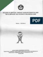 Soal Olimpiade Kebumian Tahun 2009 tingkat Kota