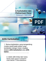 Alilik Karbokation Dan Polimerisasi Diena