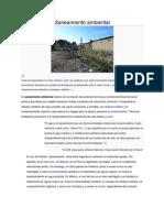 Saneamiento ambiental, definicion