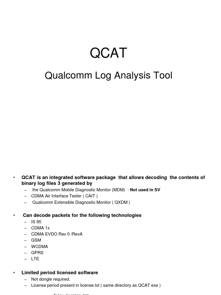 What Is Qcat Tool
