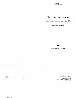 Marcus Greil - Rastros De Carmin.pdf