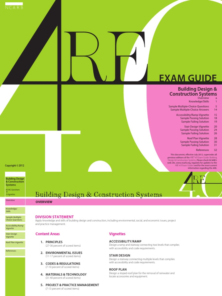 Building Design Construction Systems Exam Guide Architecture