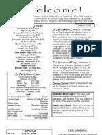 Sunday Bulletin, Mar 31 2013