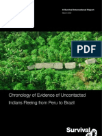 Report on uncontacted tribes fleeing Peru to Brazil