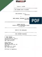 McInnish-Goode v Chapman - Brief of Appellant Oral Argument Requested - Alabama Supreme Court - 3/26/2013