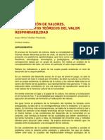 La formación de valores. Fundamentos teóricos del valor responsabilidad