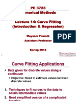 Lecture 14 - Curve Fitting (Intro&Regression)