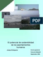 ANTEQUERA José - El potencial de sostenibilidad de los asentamientos humanos (2004)- Libro