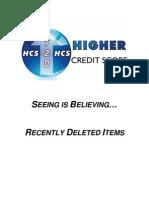 Credit Restoration Seeing is Believing