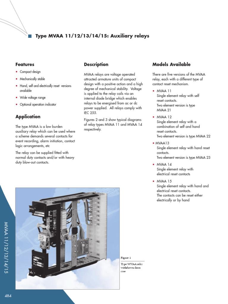 mvaa techdata en relay electrical engineering rh es scribd com Diagram 8 Wiring Pin Relay 5 Pole Relay Wiring Diagram