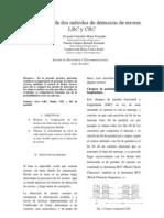 Comparación de dos métodos de detección de errores LRC y Bit de paridad