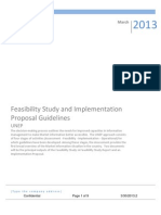 UNEP Feasibility Study & Implementation Study Guidelines