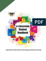 E-classroom Student Guide