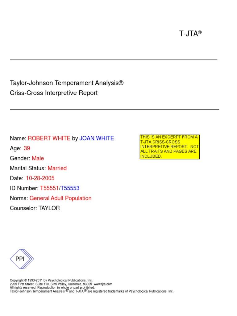 white crisscross interp attitude psychology depression mood rh scribd com Achievement Test T-JTA Assessment