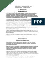 Modelo Plan Negocio 1
