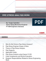 Pipe Stress Analysis Work