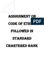 Assignment on Code of Ethics Followed in Standard Chartered Bank
